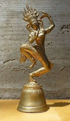 Great Old Hindu bell made from brass in the shape of dancing Shiva [Y7-W7-A9]