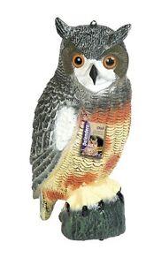 Woodside Large Realistic Bird Owl Decoy Scarer REDWOOD LEISURE