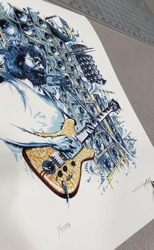 Jerry Garcia Stella Blue AJ Masthay Grateful Dead Company Giclee Poster Print Co
