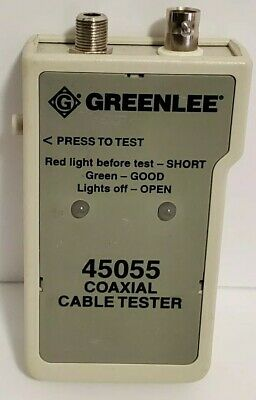 Greenlee 45055 Coaxial Cable Tester With Case Used Condition Free Shipping