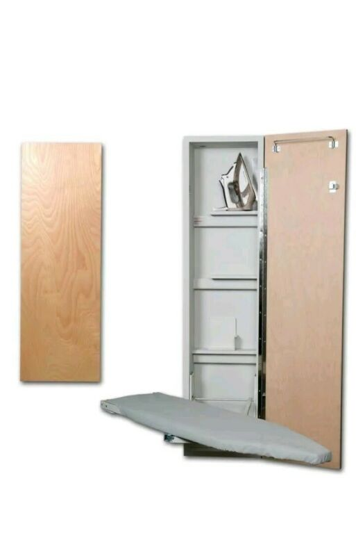 Iron-A-Way ANE-46-L 46 Inch Built-In Swiveling Ironing Board With - Flat Wood