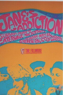 JANE'S ADDICTION FILLMORE POSTER Sextants Caterwaul F95 ORIGINAL BILL GRAHAM