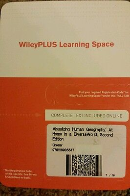 Visualizing Human Geography At Home In A Diverse World  2Rd Ed Wileyplus Card