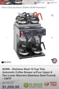 2  bunn coffee machine