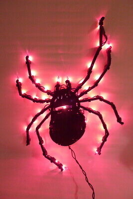 LIGHTED SPIDER Indoor/Outdoor Hanging Halloween Decoration Home Decor](Hang Outdoor Halloween Lights)