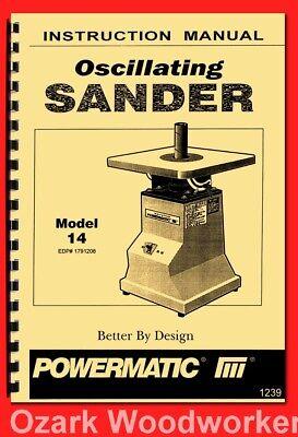 Powermatic Model 14 Oscillating Sander Instructions Part Owners Manual 1239