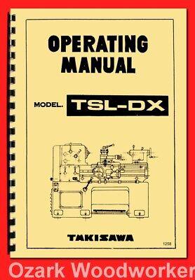 Takisawa Webb Royal Tsl-dx Metal Lathe Owners And Instruction Manual 1258