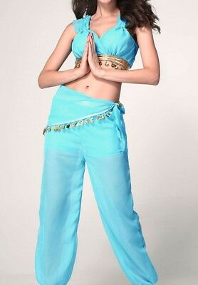 New Sexy Genie Women Costume Jasmine Adult Halloween Costume (Jasmine Halloween Costume Adults)
