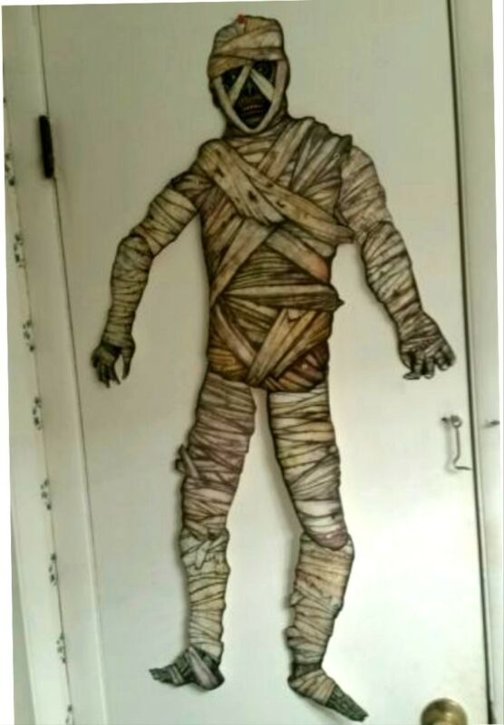 "NIP 1 REPRO VINTAGE BEISTLE-HALLOWEEN-JOINTED MUMMY-41"" TALL-DIECUT GET-1-TODAY!"