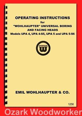 Wohlhaupter Universal Boring Facing Heads Upa 4 Upa 4-s5 Upa 5 Upa 5-s6 1256