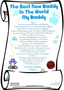 THE BEST NEW DADDY GIFT CARD SCROLL Personalised Laminated (Fathers Day)