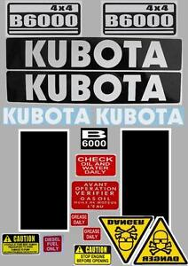 Decal-Sticker-set-KUBOTA-B6000-B7000-Compact-Tractor