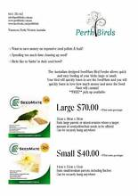 No Mess Bird Feeder - Seedmate large & small Carramar Wanneroo Area Preview