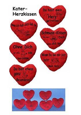Habe Plüsch (Herzkissen Plüschkissen  Liebe Schmusekissen