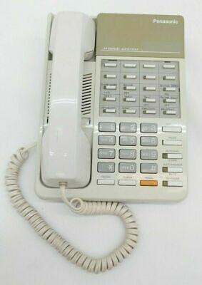 Panasonic Kx-t7020w Phone Hybrid Emss White Speakerphone Tested Warranty