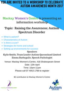 Raising the Awareness; Autism Spectrum Disorder Mackay Mackay City Preview
