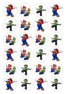 Mario And Luigi Decorations (24 Mario And Luigi Fairy Cake Cupcake Toppers Edible Decorations)