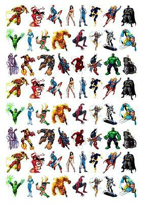 Cupcake Fairy Cake Topper Edible Paper decorations toppers (Avengers Cupcake Stand)