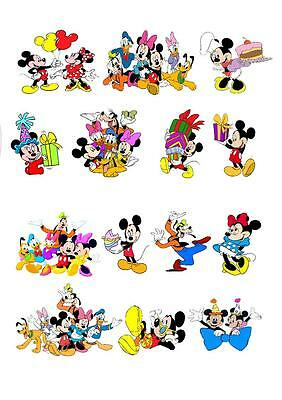 24 Disney Mickey STAND UP Cupcake Fairy  Toppers Edible Rice Paper Decorations