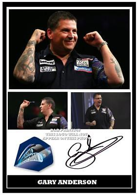 067.   GARY  ANDERSON  DARTS SIGNED REPRODUCTION  PRINT SIZE A4