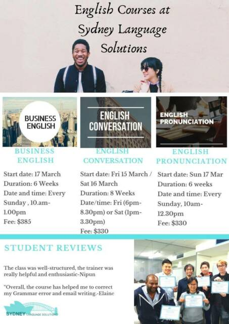 English Courses at Sydney Language Solutions | Classes | Gumtree