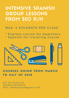 Intensive Spanish group lessons for beginners (from $20p/h)