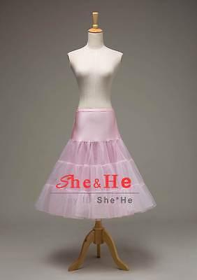 Pink Tea Length Crinoline Petticoat Underskirt Slips Retro Underskirt 50s (Pink Crinoline Petticoat)