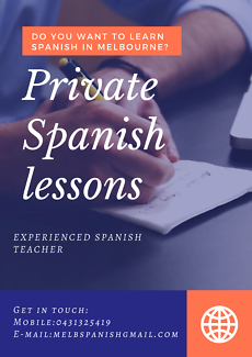 Private Spanish lessons with a qualified native teacher