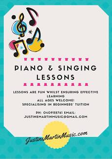 Piano & Singing Lessons Petersham Marrickville Area Preview
