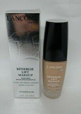 Lancome Renergie Lift Makeup SPF 20 Lifting Anti Wrinkle 370 DORE 25 (W) 1 oz