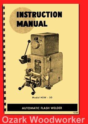 Doall Butt Welder Hsw 50 Operator Owners Manual 1238