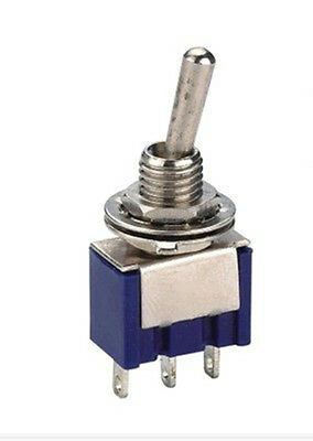 10pcs 3-pin Spdt On-off-on Toggle Switch 6a 125vac