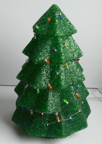 "11 1/2"" Seasons Melted Plastic Popcorn Lighted Christmas Tree Holiday Decoration"