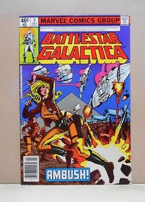 BATTLESTAR GALACTICA Vol.1 #5 1979-81 Marvel 6.0 FN Uncertified ERNIE COLON