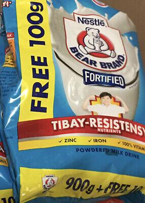 BEAR BRAND Powder Milk 900g +100g addtnl Free Pck For $18.50 Ea If You Buy 5 Pcs