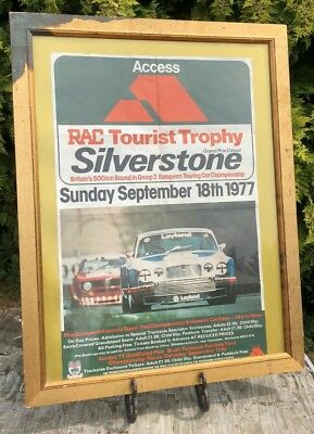 VINTAGE SILVERSTONE RAC TOURIST TROPHY RACE POSTER SUNDAY 18th SEPTEMBER 1977 *