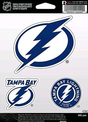 Tampa Bay Lightning Triple Spirit 3 Die Cut Decals Car Window Tumbler Laptop Tampa Bay Lightning Window