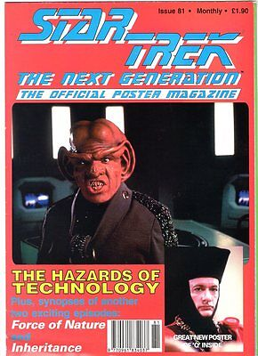 WoW! STAR TREK TNG Poster Magazine #81 Hazards Of Technology! 'Q' Poster! More! , used for sale  Scarborough