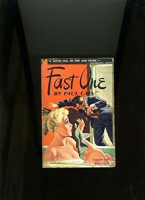 FAST ONE. PAUL CAIN. AVON 1948. CULT HARD BOILED CLASSIC. VG+