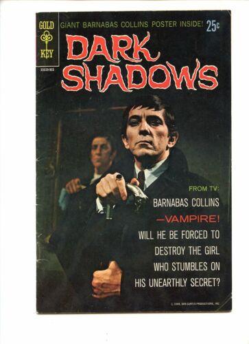 Dark Shadows #1 (1968) Gold Key Barnabas Collins Photo Cover No Poster VG
