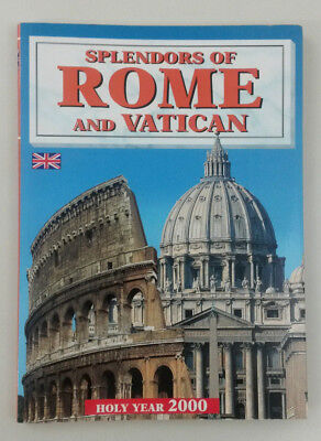 Rome and Vatican Italy Souvenir Travel Photo Guide Book - Splendors of Rome 2000