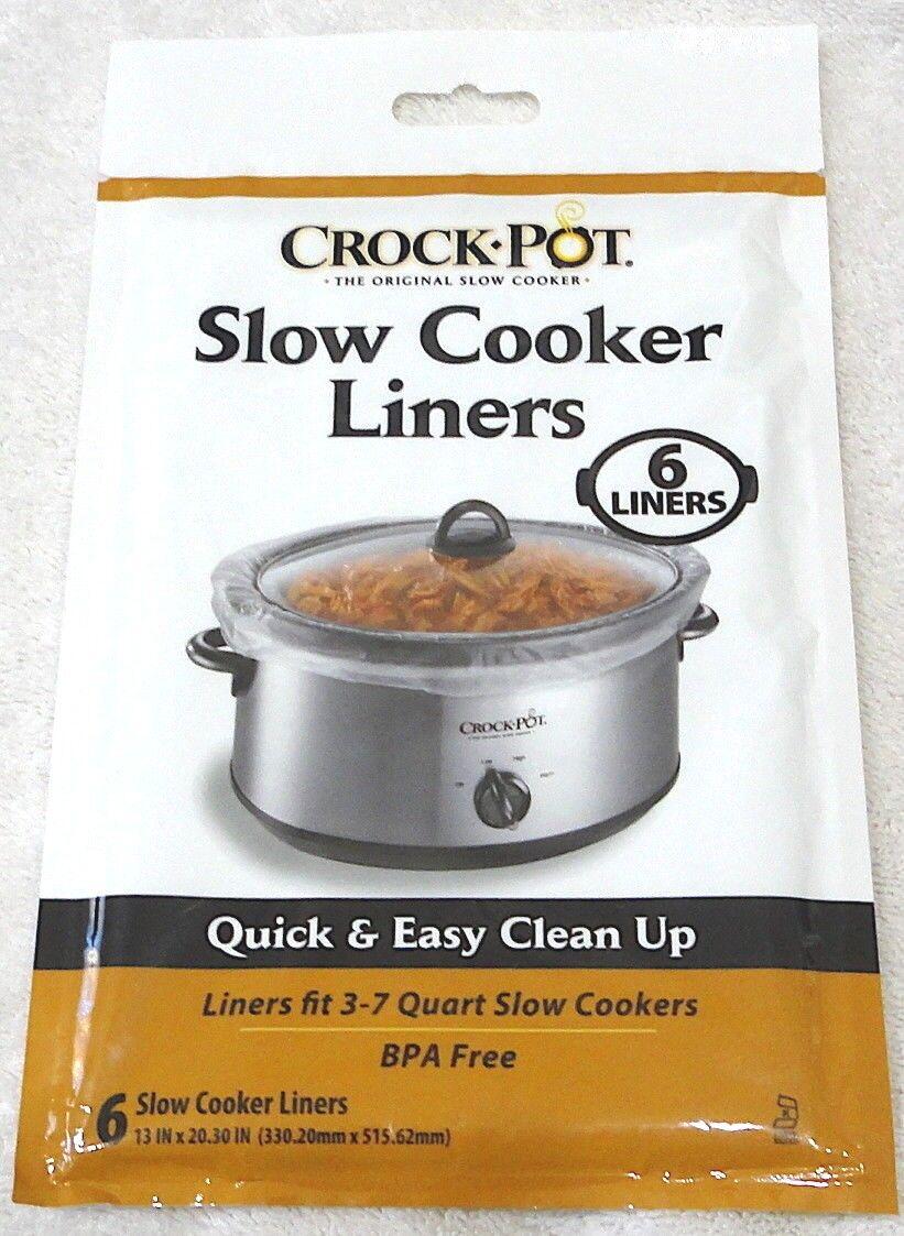 Crock Pot Slow Cooker Liners fits 3-7 Quart Slow Cookers  2