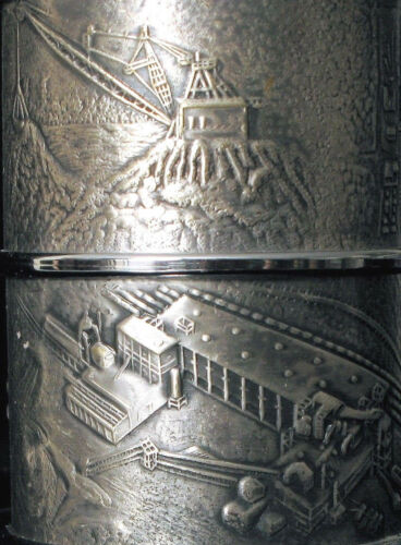 VINTAGE AMERICAN CYANAMID MINING COMPANY ORNATE CONSTRUCTION CUP FINELY CRAFTED