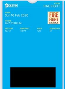 2 x Fire Fight Concert Gold Seated Tickets for sale