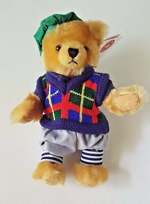 Herrington Exclusive Cheesecake Factory Golf Teddy Bear 10  W  Sweater   Hat