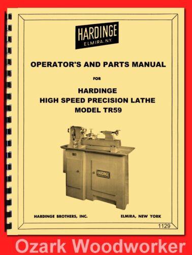 HARDINGE TR59 Split Bed High Speed Precision Metal Lathe Operator
