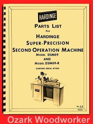 Hardinge Dsm-59 Dsm59-r Precision Lathe Part Manual 0332