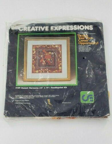 Vintage 1983 Creative Expressions 3109 RUSSET HARMONY Needlepoint Kit Crafting