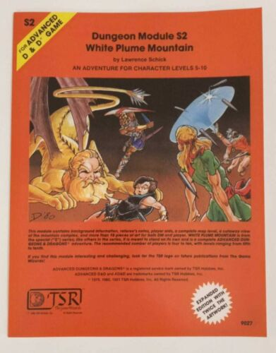 TSR AD&D 1e S2 White Plume Mountain - New, perfect bound, licensed reprint