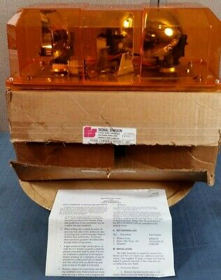 Federal Signal Corporation Amber Model Hl Series B - Working